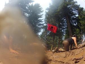 The uphill harped wire crawl.