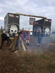 The fire burning before entering the Super Spartan